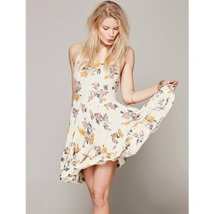 Free People Intimately // Circle Of Flowers Slip In Ivory Combo🌛
